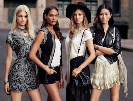 Modelle Joan Smalls, Daphne Groeneveld, Lindey Wixson e Liu Wen per The New Icons H&M